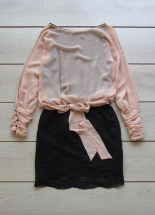 Красивое платье на поясе с ажурной юбкой от zara