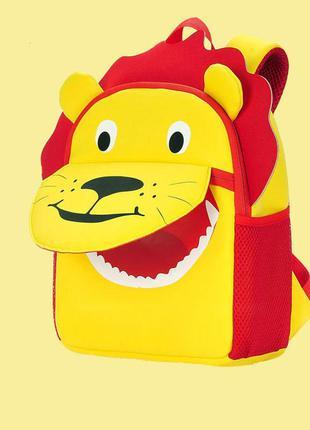 Детский рюкзак, желтый. лев.