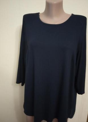 Блуза  блузка вискоза с плиссировкой сзади per una m&s uk 18 р...