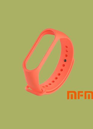 Оранжевый Ремешок/Браслет для Xiaomi Mi Band 3/4 (Фитнес-Трекер)