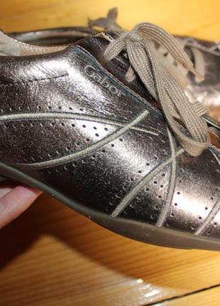 40 разм. gabor comfort шикарные кроссовки. кожа. бронза
