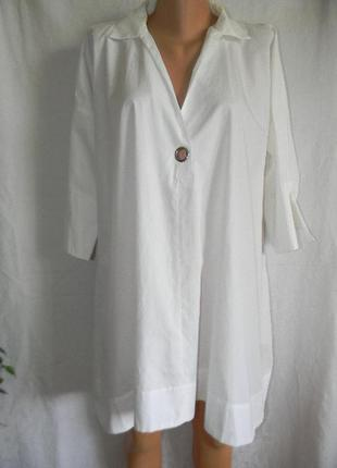 Белое платье туника zara