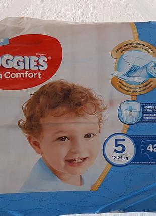 Подгузники HUGGIES 5р. 42 шт ультра комфорт для мальчика