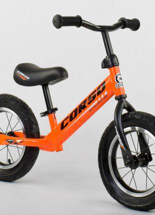 Беговел, велобег CORSO 68170 стальная рама, колесо 12« надувные к