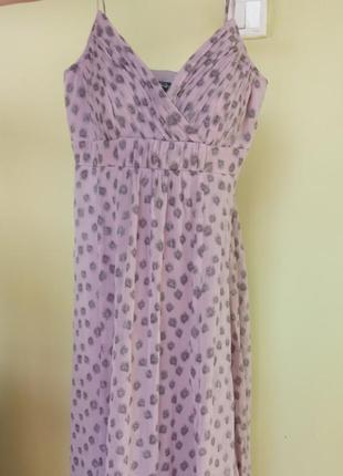 Лавандовое платье шелк