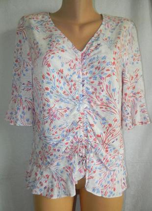 Легкая новая натуральная блуза tu