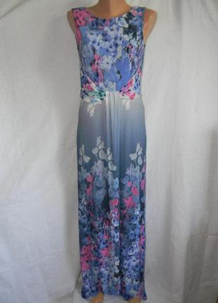 Новое платье с нежным принтом в пол