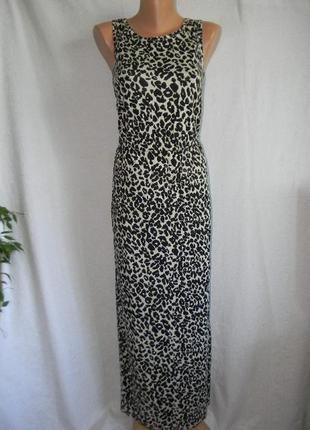 Натуральное платье в пол с актуальным принтом