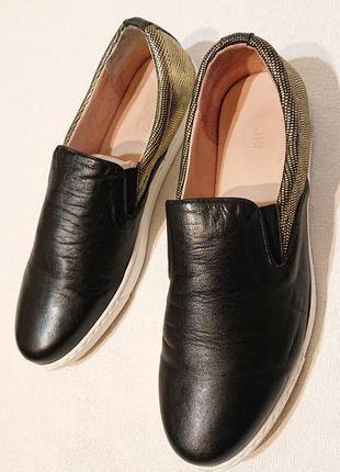 Женские слипоны мокасины туфли 41р кожа испания