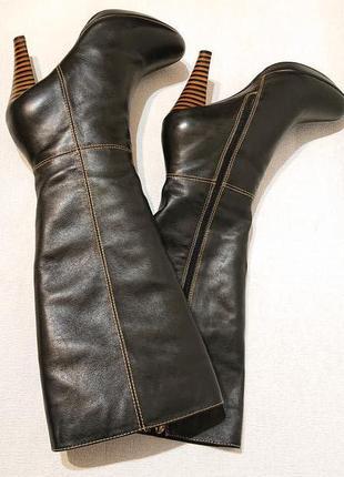 Женские кожаные деми сапоги welfare w&f 40 р демисезон утепленные