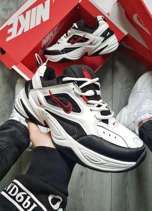 Nіke m2k tekno white/black/red 🔺мужские кроссовки nіke  white/...