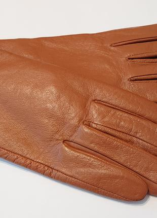 Женские кожаные утепленные перчатки 8р кожа l