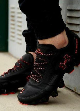 Under armour scorpio running shoes black/red🔺мужские кроссовки...