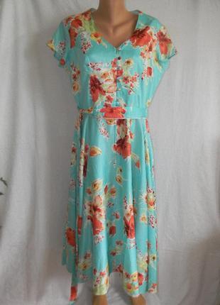 Красивое платье с цветочным принтом susan gillis brown