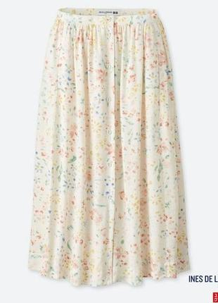 Красивого нежного цвета юбка миди uniqlo