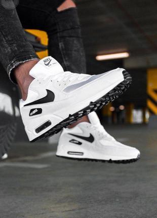 Nike air max 90 white/black 🔺мужские кроссовки найк 🔺41-45