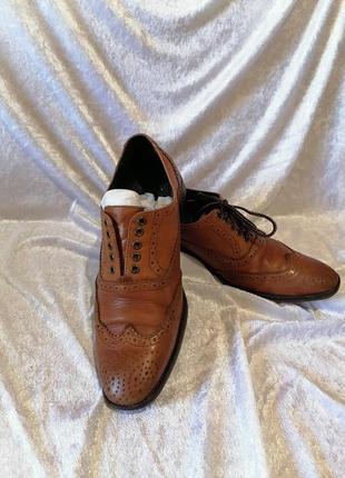 Мужские кожаные туфли броги nicholas tate