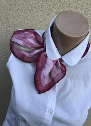Винтаж,маленький,шелковый платок,косынка,