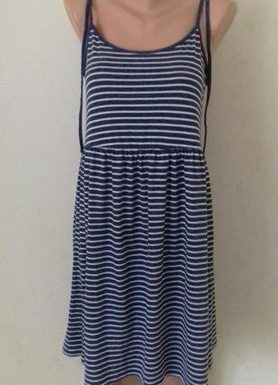 Новое платье на тонких бретелях в полоску george