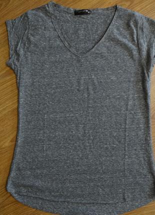 Серая футболка однотонная тм Spora pазмер S