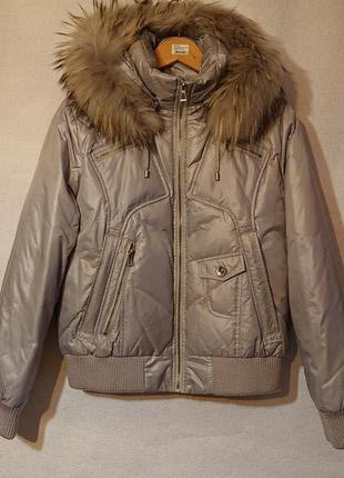Женская пуховая куртка l-xl 46-48-50р зимняя куртка пуховик