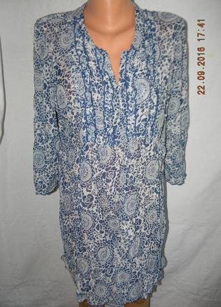 Блуза-туника с принтом