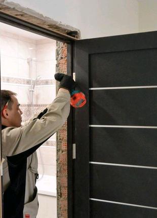 Установка входных дверей межкомнатных дверей