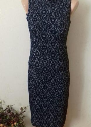 Платье по фигуре с красивым узором