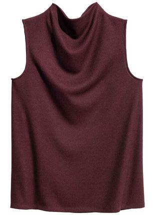 Женский топ h&m l-xl наш 50-52р блуза блузка майка бордо