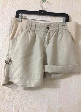 Льняные шорты mamas& papas 46 р для беременных.