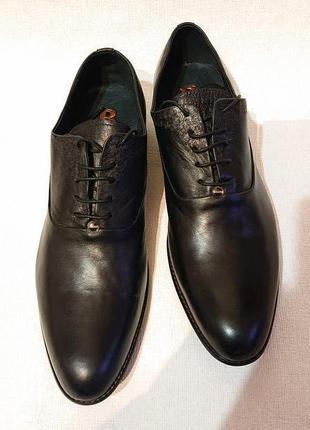 Классические мужские туфли basconi 42р кожа кожаные туфли