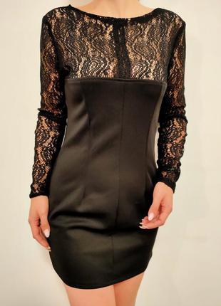 Маленькое черное платье 2 в 1 ручная работа гипюр кружево на м...
