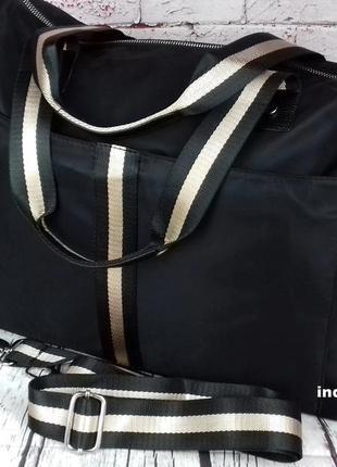 Дорожная сумка черная. городская сумка женская. спортивная сум...