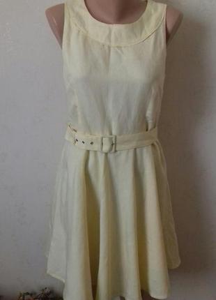 Льняное платье солнце-клеш oasis