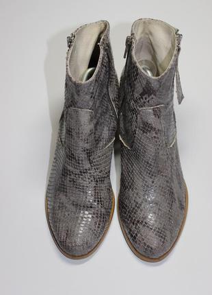 Шкіряні черевики ботинки принт змія італія