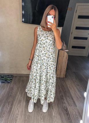 Платье-сарафан хлопковый штапель, в наличии расцветки и размеры