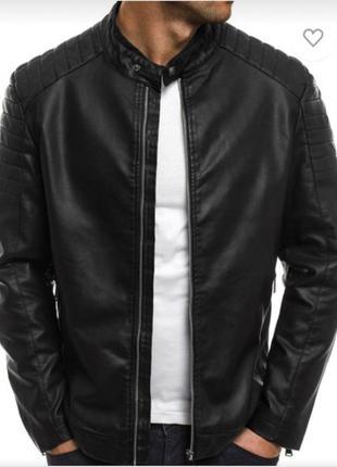 Мужская кожаная куртка ( размер м ) цену снизила !!! спешите к...