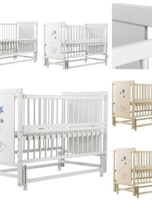 Кровать Babyroom Медвежонок M-02 маятник, откидной бок бук