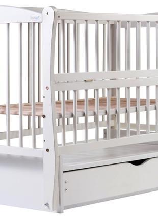 Кровать Babyroom Еліт резьба маятник, ящик, откидной бок DER-7...
