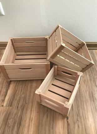 Набор деревянных ящиков