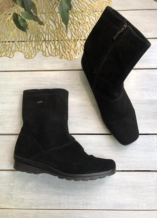 Ara замшевые ботинки на gore-tex полусапожки сапожки сапоги