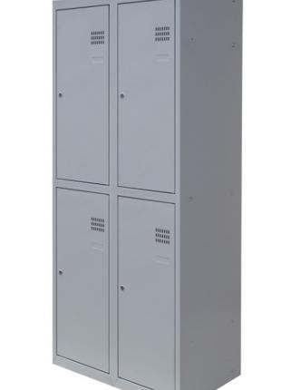 Шкаф для раздевалок металлический ШОМ 4/60 (1800х600х500)