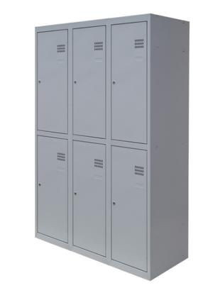 Шкаф металлический для раздевалки ШОП 6/90 (1800х900х500)