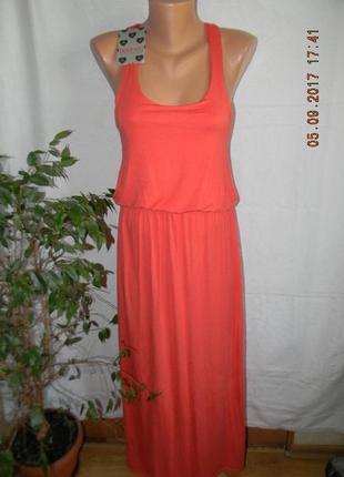 Платье новое коралловое  в пол boohoo