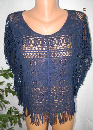 Ажурная блуза next