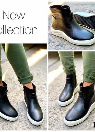 Хайтопы женские натуральная кожа сапоги ботинки
