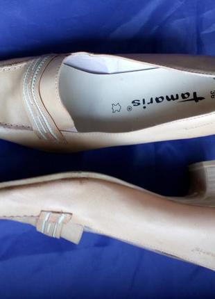 Туфли женские бежевые кожа tamaris размер 36