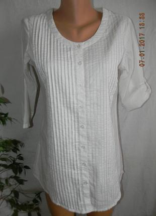 Белая натуральная блуза akkriti
