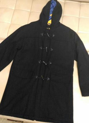 Демисезонное пальто осень/весна с капюшоном размер l