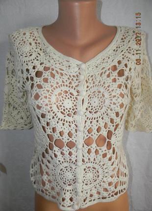 Ажурная блуза кардиган